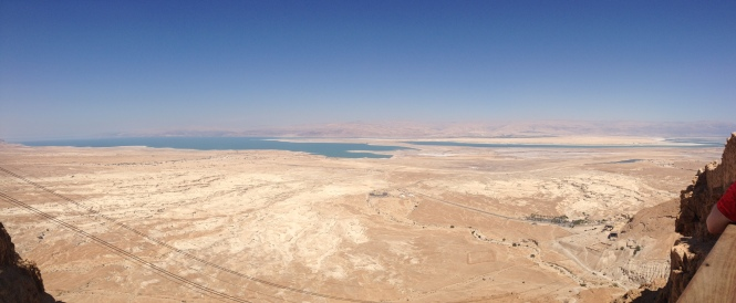 View of the Dead Sea from Masada.
