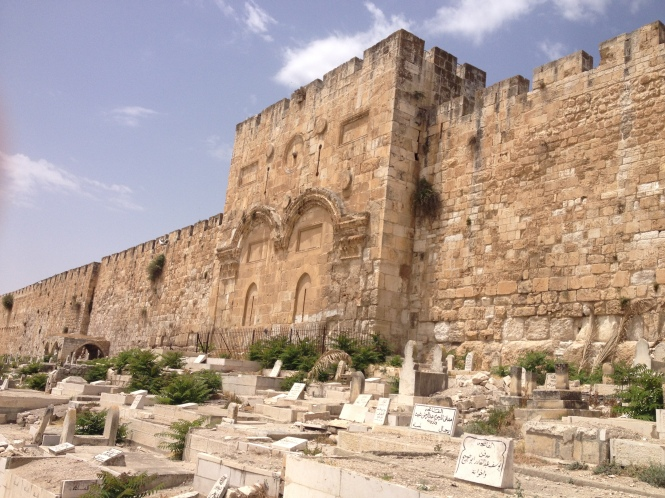 East gate of Jerusalem.