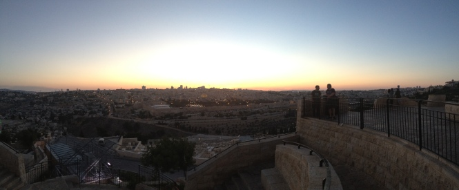 Jerusalem sunset.