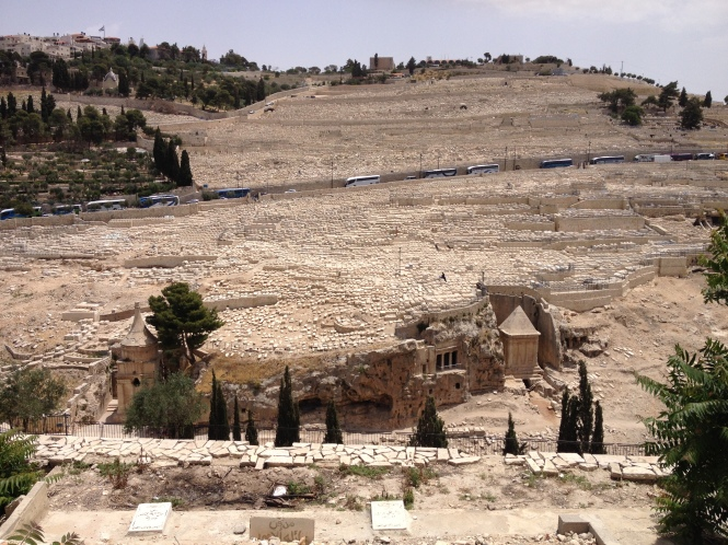 Jewish tombs on the Mount of Olives.