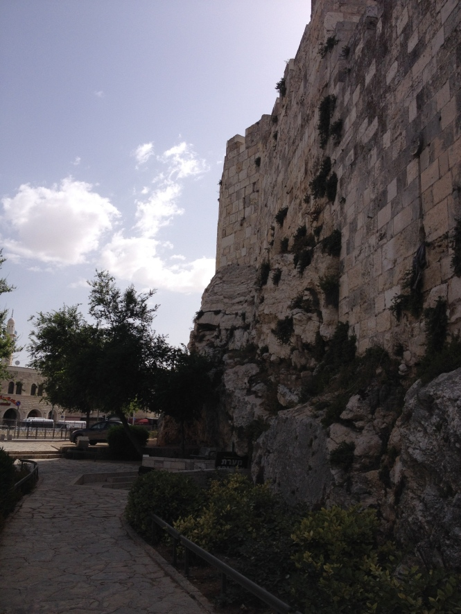 North wall of Jerusalem.
