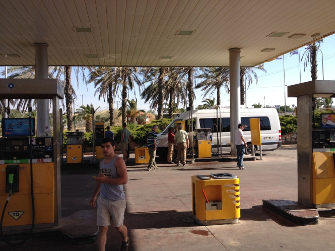 We ran out of gas in Samaria. And then we nearly couldn't get the gas pump to work because the Sabbath was starting and the gas pump was closed. We had to call the gas company to have them turn the pump on.