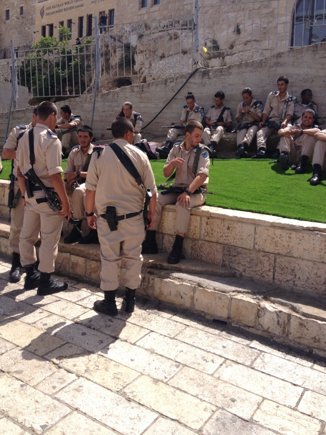 Soliders in Jerusalem.