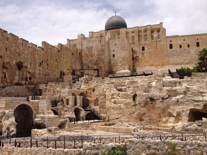 South wall of Jerusalem and Al-Aqsa mosque.
