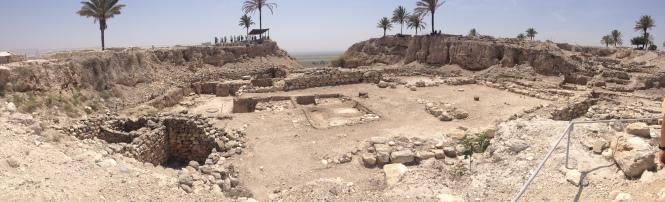 Megiddo ruins.